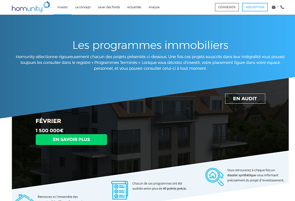 crowdfunding immobilier avis Homunity